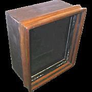 Victorian 1880's Shadow Box with Walnut Frame with Lock