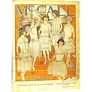 McCall's Newsprint Fashion Flyer, from L. H. Quick & Co. 1922