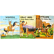 Three Books of Platt & Munk 1935 Indian Series, Robert Vernam Illustrator