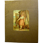 Large Victorian Cloth Scrapbook with Trade Cards, Columbian Expo Bldgs.