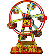 "1934 Chein Lithographed Tin ""Hercules"" Toy Ferris Wheel"