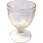 "EAPG Flint Glass Buttermilk in ""Tulip"" Pattern"