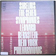 Sibelius' Seven Symphonies, Leonard Bernstein, New York Philharmonic, 5 Record Boxed NM Set