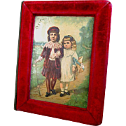 Framed Children Cover Super Filled 1883 Victorian Scrapbook