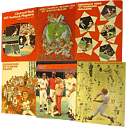 Collection of Cincinnati Reds' Baseball Yearbooks, Etc.