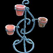Vintage Garden 3-Pot Metal Wire flower Pot Stand