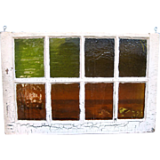 Very Old Window with Original and Beautiful Stained Glass