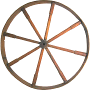 Wooden Wheel Only from an Early 19th Century Spinning Wheel