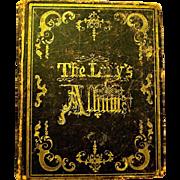 """1850 Pre Civil War """"Lady's Album"""" of Poems, Memorabilia, Scraps"""