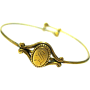 Victorian Baby/Child's Rolled Gold Adjustable Signet Bracelet