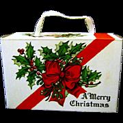 Never Used 1940s Cardboard Christmas Candy Box