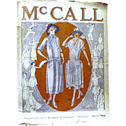 McCall's Newsprint Fashion Flyer, May 1922, from L.H. Quick & Co.
