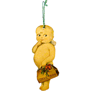 1915 American Made Die-cut, Double-sided Lithographed Paper Kewpie Christmas Ornament