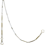 14K white gold Art Deco Pocket Watch Chain