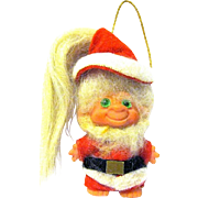 "1960s All Original Scandia House 3"" Troll Santa Claus Hanging Christmas Ornament"