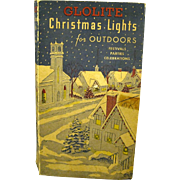 1940's String of Working Glolight Christmas Lights in Original Box