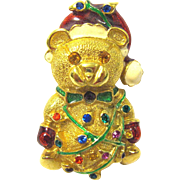 Santa Claus Teddy Bear Pin