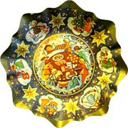 1950's Lithographed Cookie Bowl, West Germany