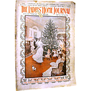 December 1898 LADIES HOME JOURNAL Magazine, Dancing Around the Candle Lit Christmas Tree