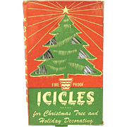 1930's Boxed Fire Proof Tinsel for the Christmas Tree, Art Deco Designed Package