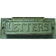 Edwardian Cast Iron Letter or Mail Slot