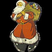 Walking Paper Santa Claus, 1922, Advertising for Bank