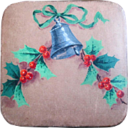 Hand Painted Bell and Holly on HUYLER'S Christmas Chocolate Box,