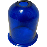 Blown Cobalt Glass Christmas Candle Shade