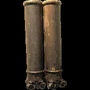 Pair of Small Wooden Antique Corinthian Columns
