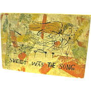 """Sweet Was the Song"", Ben Shahn, Great 1965 Book on the Text of an Old English Carol"