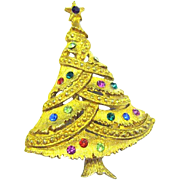 Crisscross Garland  Vintage Christmas Tree Pin