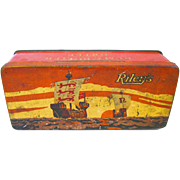 Early Vintage Riley's 8 oz. English Rum & Butter Flavoured Toffee Tin