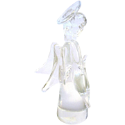 Pretty Clear Crystal Christmas Angel Paperweight