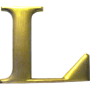 "F.W. Woolworth Store Original Cast Metal Letter ""L"", 1920s"