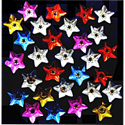 Silver, Gold, Red, Blue and Pink Star-shaped Foil Reflectors for Christmas Lamps