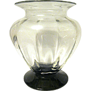 Crystal Optic Panel Vase with Ebony Foot