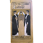 Original Bryn Mawr College Calendar from 1909, Jessie Wilcox Smith & Helen Shippen Green