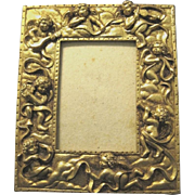 Rococo Style Gilt Photo Frame with Cherubic Angels