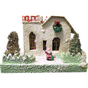 Larger Vintage Putz Village Building for Under the Christmas Tree