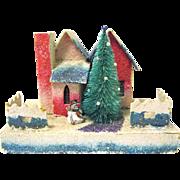 Larger Vintage Putz or Village House for Christmas Scene, Japanese
