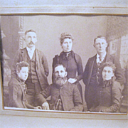 Victorian Leather Family Photograph Album with 30 Cabinet Photos