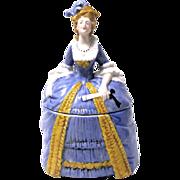 Porcelain Lady Powder Jar from Sitzendorf, Germany