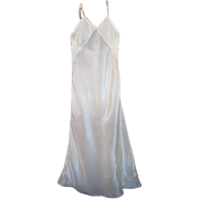 1930s' Lady's Long Bias Cut Full Silk Slip, Creamy Blush Color
