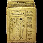 1921 McCall Pattern, Lady's Jumper Dress