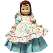 "1960 madame alexander Little Lady Doll 8"" Bent Knee Walker, Maggie Face"