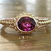 Tourmaline Ring - Pink Tourmaline Ring - Jewelry - Gemstone Ring - Rose Gold Ring - Fine Jewellery