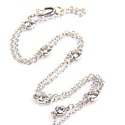 Diamond Yard White Gold- Diamond by the Yard - 1 carat Diamond Necklace - Diamond Necklace - Station Necklace