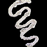 Diamond Yard White Gold- Diamond by the Yard - 1 carat Diamond Necklace - Diamond Necklace - Station Necklace - Red Tag Sale Item