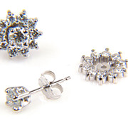Earring Jackets - Diamond Earrings - Half Carat Diamond Earrings - Earrings - Round Diamond Earrings