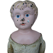 Minerva Metal Head Doll - Leather Body - Germany -